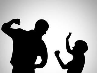 Ilustração - Violência contra crianças