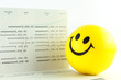 Smile ball and account passbook