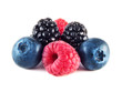 Fresh blueberries, raspberries and blackberries