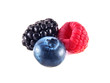 Fresh blueberry, raspberry and blackberry isolated