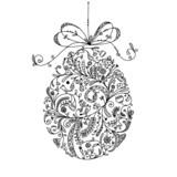 Abstract vintage easter egg for your design