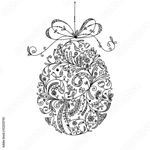 Abstract vintage easter egg for your design - 52252743