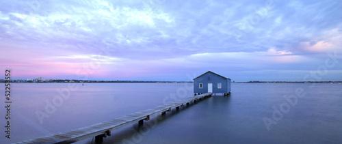Leinwandbild Motiv Boat house Matilda Bay