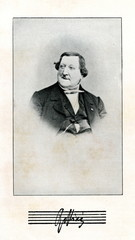 Portrait of italian composer Antonio Rossini