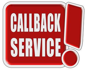 !-Schild rot quad CALLBACK SERVICE