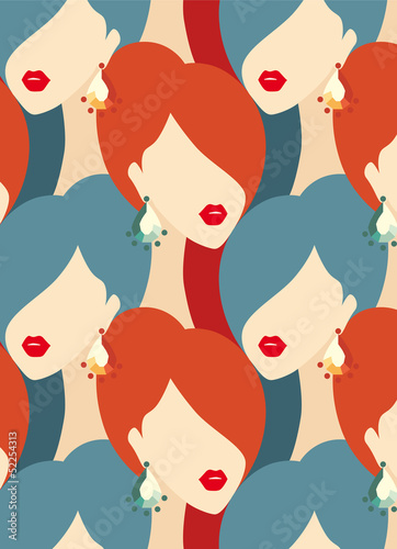 woman fashion seamless pattern
