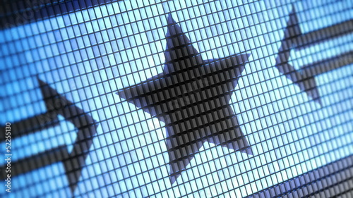 Star shape on screen. Looping.
