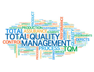 """TOTAL QUALITY MANAGEMENT"" Tag Cloud (standards control tqm qc)"