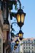 antike Hausbeleuchtung in Lissabon