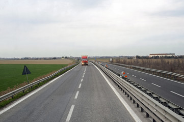 Vehicles moving on a highway