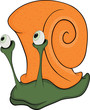 Malicious snail. The monster. Cartoon