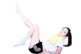 Beautiful young sporty woman
