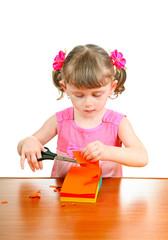 Little Girl with Scissors