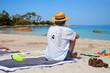 L'homme sur la plage en Corse