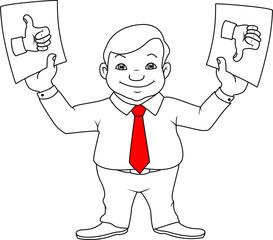 businessman, choice, like and dislike