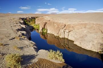 Wasser in der Atacama- bei San Pedro