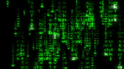 Matrix style code: digital data cascade