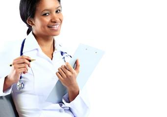 African American nurse medical doctor woman