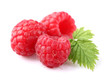 Raspberry with leaf
