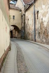 cobblestone curve road