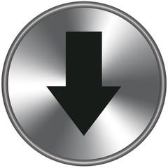 Bottone metallico freccia giù