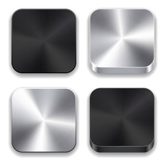 Metallic app icons.