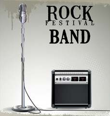 Rock festival background