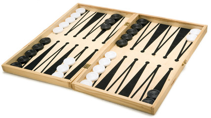 Isolated Backgammon Set