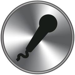 Bottone metallico microfono