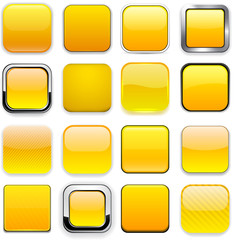 Square yellow app icons.