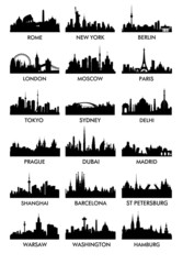 Top city ​​silhouette vector