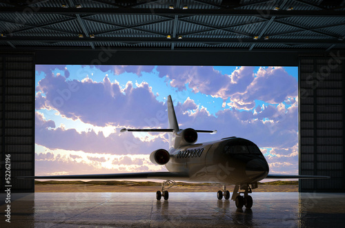 canvas print picture The   hangar.