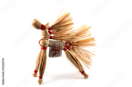 traditional Russian toy, horse of the bast
