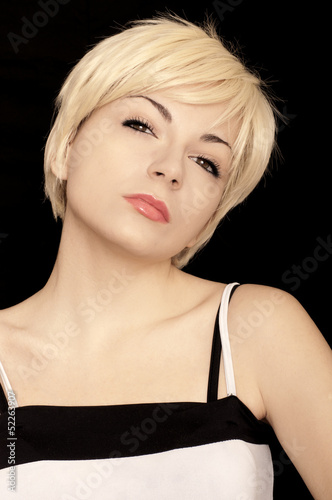 Pretty girl with short hair