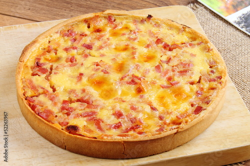 Quiche lorraine French pie