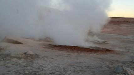 Geysers in Salar de Uyuni, Bolivia