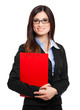 Beautiful female executive portrai
