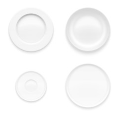 Plate set. Kitchen dishware.