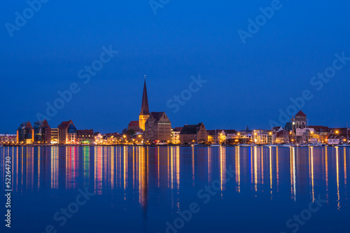 canvas print picture Blick auf Rostock.