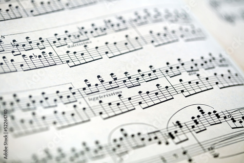 Sheet Music Bokeh