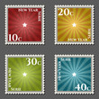vector xmas themed postage stamps