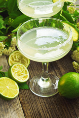 Lime cocktail margarita