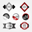 Modern Design modern Labels / can be used for infographics / num