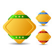 Vector gold square buttons