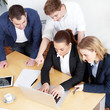 Teamwork - business people are in a meeting