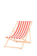 Sun lounger in stripes