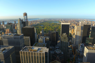 Manhattan Upper Town and Central Park, New York City