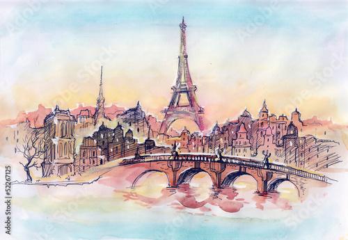 sunset in Paris - 52267125