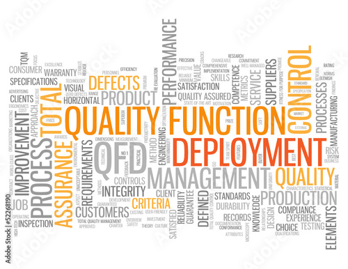 """QUALITY FUNCTION DEPLOYMENT"" Tag Cloud (business management)"