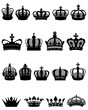 Set of crowns isolated-vector